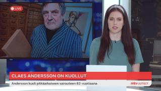 MTV Uutiset Live - Claes Andersson on kuollut